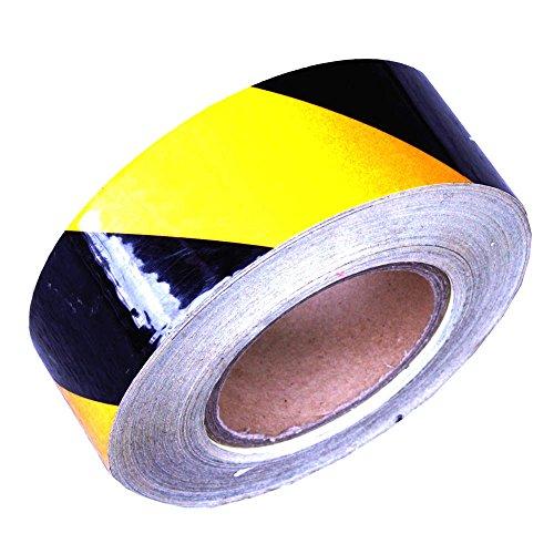 Cablematic Adesivo riflettente nastro di marcatura giallo nero 48m 5 centimetri