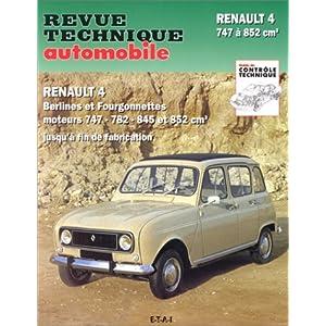 Revue technique automobile, N° 288.6 : Renault 4 : R 1120, R 1122 de 1961 à fin de fabrication avec moteurs 747, 782, 845, 852 cm³