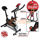 FFitness Spinning Spin Bike Cyclette CICLETTE Home Trainer Bici da Fitness Palestra Fit Indoor Bike Bici Cardio CARDIOFREQUENZIMENTRO Display LCD Ciclo AEROBICO Home Fitness