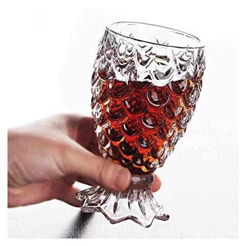 Tasse en verre cristal Tasse à bière Tasse à café Tasse à grain de poisson Verre sirène Coupe Verre à cocktail JXLBB