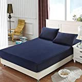 ACC Solid Color Bed Sheet Dormitory 1.8m Bed Cover Non-Slip Simmons Mattress Cover