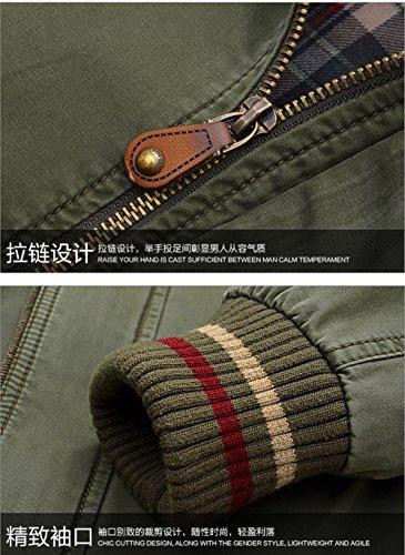 YYZYY Homme Classique Cotton Printemps Automne Collier Militaire Bomber Tactique Veste Blousons Manteaux Armée verte