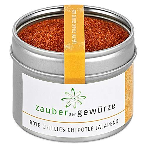 Zauber der Gewürze Rote Chilis Chipotle Jalapeno gemahlen, 55g, rauchiger Geschmack mit intensiver Schärfe (Jalapeno-pulver)
