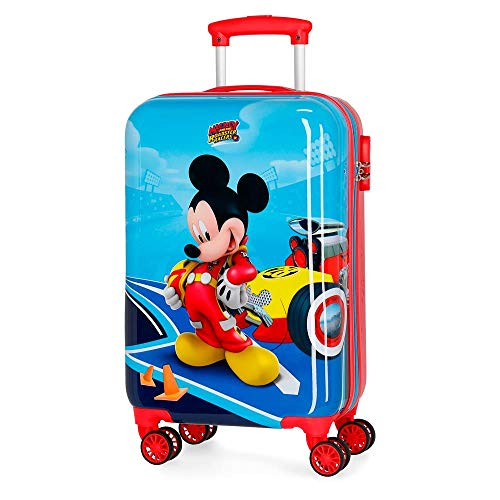 Disney Lets Roll Mickey Valigia per bambini 55 centimeters 37.4 Multicolore (Multicolor)