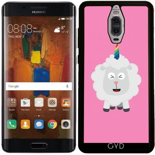 Preisvergleich Produktbild SilikonHülle für Huawei Mate 9 Pro - Einhorn Schafe Regenbogen by ilovecotton