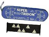 Weico 99013 - Gesellschaftsspiel, Big Pack Super Tridom für 2-6 Spieler, 76 Steine, 6 Bänke, Reißverschlusstasche
