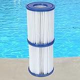 Bestway Lot de 6cartouches de filtration pour pompe de piscine Intex Taille2