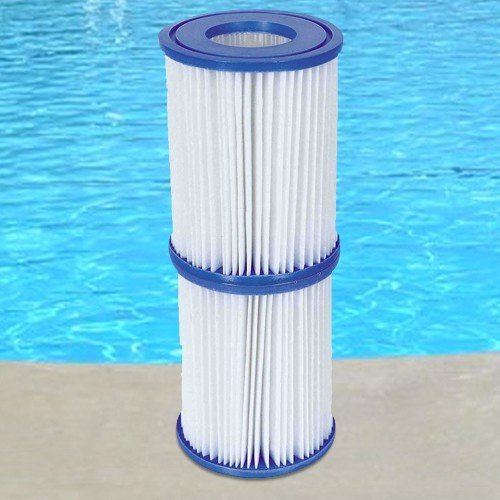 6 Stück Bestway Filter Kartuschen für Pool Swimmingpool Pumpen Intex Bestway / Gr. 2 (2 Pool)