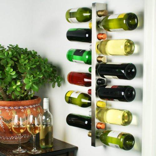 Este botellero de bar@drinkstuff tiene un acabado de acero cepillado para un aspecto elegante y moderno.Este botellero sujeta 12botellas de vino en posición horizontal.Tornillos incluidos; igual se necesitan otras fijaciones.-Importante: Las botella...
