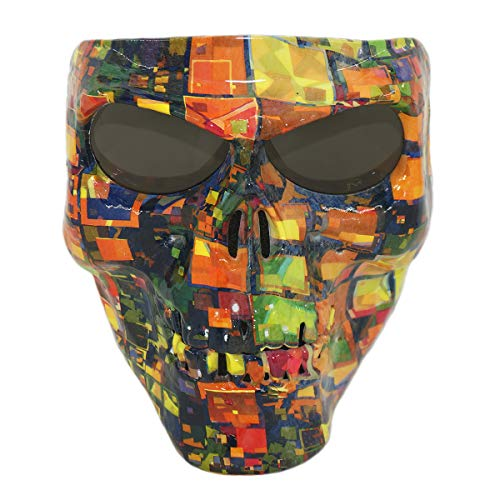 Vhccirt Persönlichkeit Schutzmaske Schädel / Zombie / Reaper Gesicht Airsoft / Paintball / Motorrad Racing Helm Maske Halloween Cosplay Maske Graue Linsen Fantasiematrix