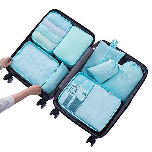 Kleidertaschen, JIM'S STORE Set von 8 Wasserdicht Reiseveranstalter Verpackungswürfel / Reisewürfel / Kleidung Taschen /Wäschesack Veranstalter zum Reise Gepäck Koffer