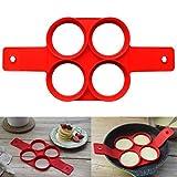 Stampi per uova al tegamino,Culater® Nuovo prodotto fantastico modo veloce e semplice per fare strumento di cottura perfetta (D)