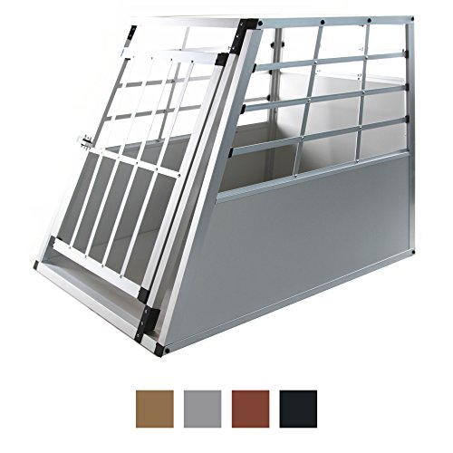 Hund Harten Großen Bett (Jalano Hundetransportbox XL Auto Gitterbox große Hunde Alu Hundebox Kofferraum, Farbe:grau)