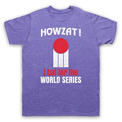 Howzat I Bat For The World Series As Worn By Dennis Lillee Herren T-Shirt Jahrgang Violett