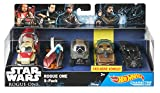 Hot Wheels Mattel DXR05 - Star Wars Rogue One Character Car 5er Pack