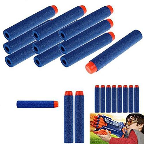 Nerf Pfeile 100 Stücke Surenhap Foam Darts Pfeile Schaum Kugeln für Nerf N-Strike Elite Series nerf -Pistole Spielzeugblaster Retaliator Spielzeug Gewehr (Blau)