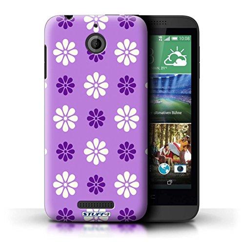 Kobalt® Imprimé Etui / Coque pour HTC Desire 510 / Bleue conception / Série Motif avec pétales Violet