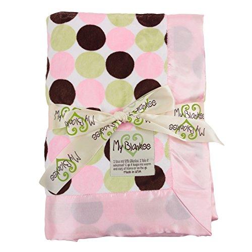 My Blankee Retro Dot Minky W/Minky Dot Rosa Baby Decke, 76,2x 88,9cm