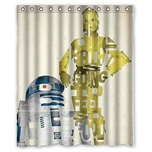 Star Wars R2D2 Robot Rideau de douche 60 x 72 cm