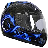 Rallox Helmets Integralhelm 510-3 schwarz/blau RALLOX Motorrad Roller Sturz Helm ( XS, S, M, L, XL )...