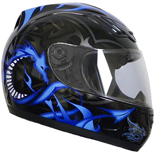 Rallox Helmets Integralhelm 510-3 schwarz/blau RALLOX Motorrad Roller Sturz Helm ( XS, S, M, L, XL ) Größe M