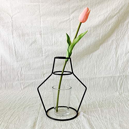 Gaddrt moderno europeo nordico minimalista astratta vaso nero ferro breve vaso fiore rastrelliere wedding home party decor ornamenti g