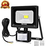 MK 10W Foco LED con Sensor Movimiento 1000LM, Proyector LED exterior con detector PIR de IP66 (resistente al agua), Lámpara de luz blanca con sensor de exterior, Iluminación de Exterior y Seguridad para patio, jardín, luz led exterior con sensor