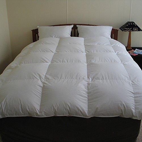 Qualität Bettdecke Daunendecke 155x220 cm Decke aus hochwertigen masuren Gänsedaunen ÖKO-TEX 100 (155x220 cm (Ganzjahresdecke) 1200 - Bettdecke Gänsedaunen