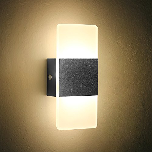 Wall lights for hallway amazon led wall light bedside wall lamp oenbopo modern acrylic led bedroom hallway bathroom wall lamps fixture decorative night light for pathway bedroom aloadofball Images