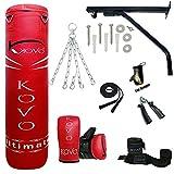 Saco de boxeo pesado MADX con relleno de 152,4 cm (incluye cadena, soporte,...