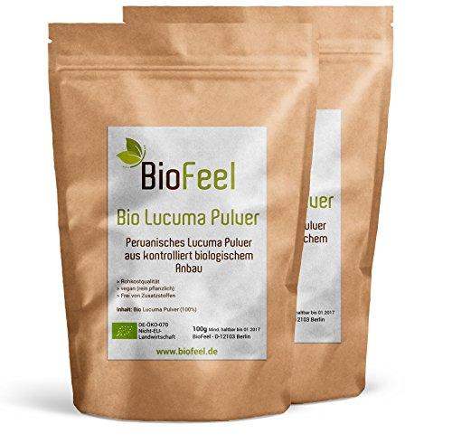BioFeel - Lucuma Pulver - 200g - 2er Pack - Spitzen Bioware