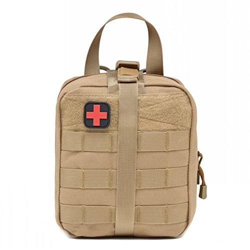 ZREAL Borsa tattica di sopravvivenza di emergenza del sacchetto pratico del sacchetto del pronto soccorso di EMT allaperto tattica per la maglia & la cinghia Colore di fango