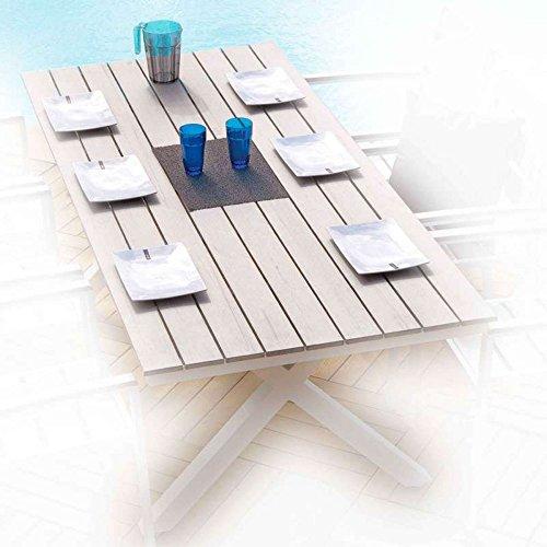 Ozalide 9018 Cavalaire Table Aluminium/PVC/Bois 200 x 90 x 75 cm