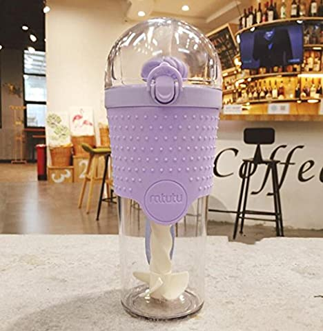 AN-LKYIQI Creative Tubing Pulver Pulver Fitness Cup Bewegung Cup Shakes Hand Cup Outdoor Sports Kettle Cup , purple