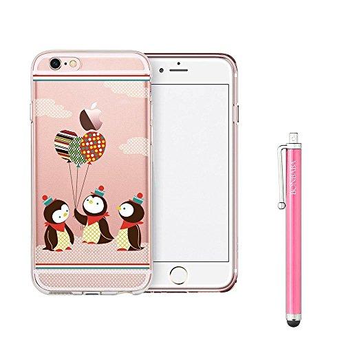 Coque iPhone 7 Plus Housse étui-Case Transparent Liquid Crystal Mandala en TPU Silicone Clair,Protection Ultra Mince Premium,Coque Prime pour iPhone 7 Plus (2016)-les petits moutons La fête des Pingouins