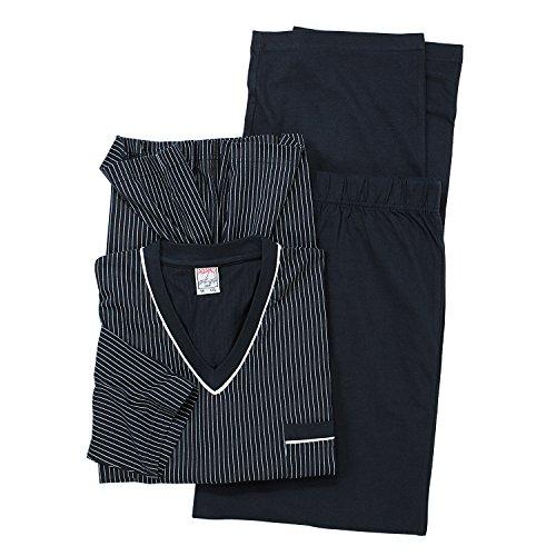 ADAMO Übergrößen Langarmschlafanzug in grau der Firma 9XL, Größe:5XL;Farbe:Blau