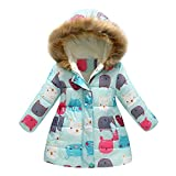 2-7 Years Old, Baby Coat Jacket, Toddler Baby Girls Boys Winter Cartoon Print Warm Jacket Hooded Windproof Coat