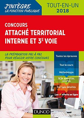 Concours Attaché territorial Interne et 3e voie - 2018 - Tout-en-un