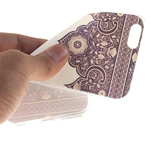 Nancen Ultra Slim Handyhülle für Apple iphone 6 Plus / 6S Plus (5,5 Zoll), Bunt Muster Painted Premium Etui Weich TPU Material Hülle Case Cover Schutz Silikon Schutzhülle Handy Backcover - Anti-kratzf Symmetrie Totem