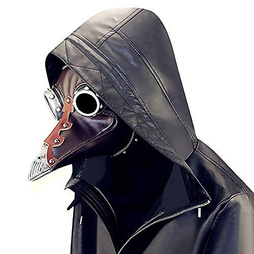 LBAFS Halloween Maske Erwachsene Steampunk Punk Pest Vogel Schnabel Arzt Maskerade Party Requisiten
