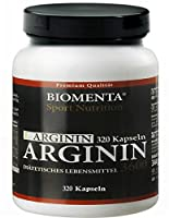 L-ARGININ HOCHDOSIERT - 3600 mg - 320 Kapseln, 2-3 Monatskur hier kaufen