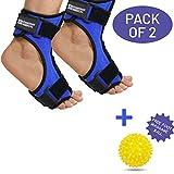 Packung mit 2 Plantarfasziitis Nacht-Orthese   Fersensporn-Bandage mit Biegsamer Fußspann-Schiene für Stabilisierung nach Fuß