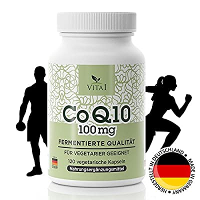 Coenzyme Q10 capsules - high doses 100mg • 120 capsules (4 months supply) • For more energy & stamina and to strengthen the cardiovascular & immune system • Made in Germany by fuehldichwohl24