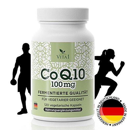 Coenzym Q10 Kapseln - hochdosiert 100mg • 120 Kapseln (4 Monatsvorrat) • Vegan, Kosher & Halal • Hergestellt in Deutschland