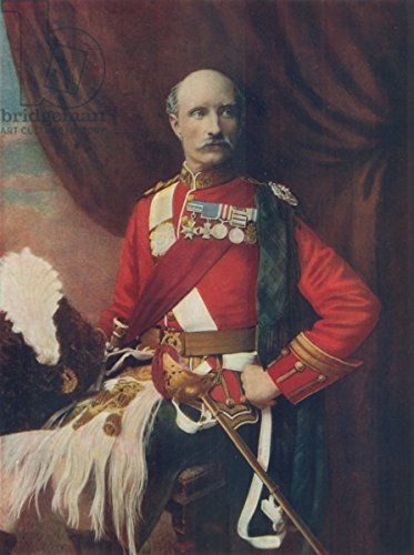 "Leinwand-Bild 30 x 40 cm: ""Lieut.-General Sir George White, In the Uniform of Colonel of the Gordon Highlanders"", Bild auf Leinwand"