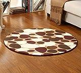 GXQL Einfache Kinderstuhl Teppich Rutschfester Runder Teppich für Schlafzimmer Wohnzimmer,A,120cm