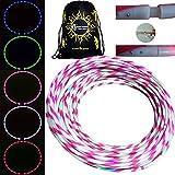 STARBURST Glow LED Hula Hoop Reifen mit 28 Helles Farbig LEDs und Handlicher Rosa Silikon-Griffstreife + Tasche! Helle Farbe LED's Für Hoop Dance und Übung Für Alle Altersgruppen - 90cm! (Grün)