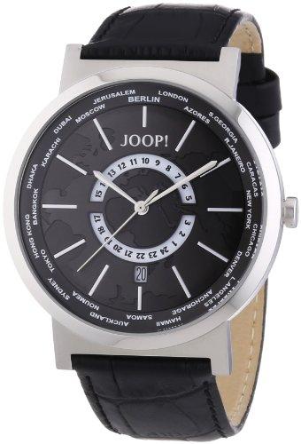 Joop. Men's Quartz Watch with Black Dial Analogue Display Quartz Leather JP101201°F02U