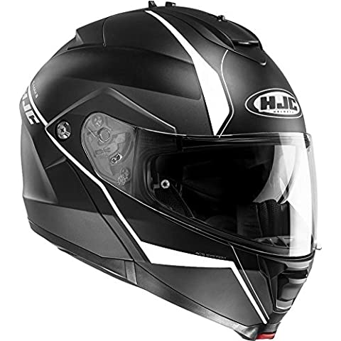 HJC is-Max II flip-up casco modular–Minas negro/blanco