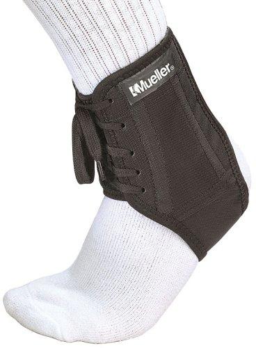 Mueller Fußgelenkbandage Fußball-Knöchelschutz, Größe M, schwarz